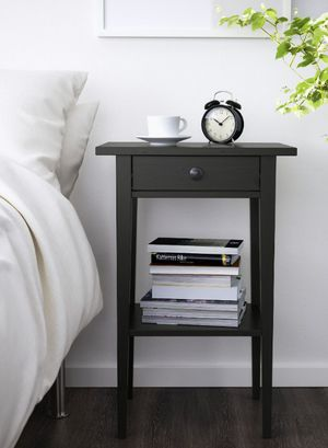 """IKEA Black 1 Drawer 1 Shelf Side Table Height: 28 """". Depth: 14 """". for Sale in Arvada, CO"""