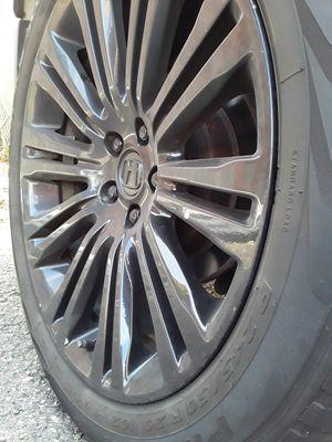 "20"" rims / wheels 5 lugs (5x114.3 patterns) powdercoat gloss black for Sale in Peabody, MA"