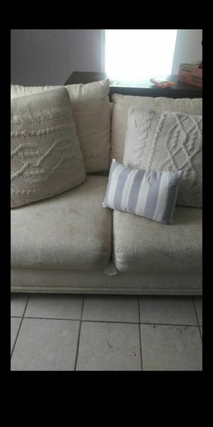 2 seater off white couch for Sale in Houston, TX