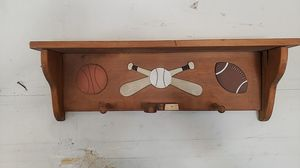 Custom made baseball decoration and bat and glove holder for Sale in Tracy, CA