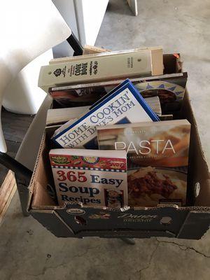 Box of cookbooks for Sale in Stockton, CA