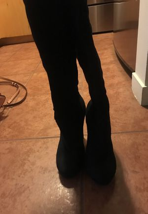 Black thigh high boots size 6 for Sale in St. Louis, MO