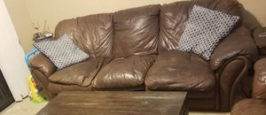Three seat leather couch for Sale in Palm Shores, FL