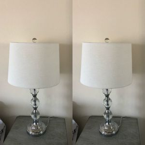 Two matching Glass lamps for Sale in San Diego, CA