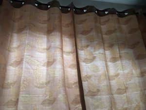 L63xW53 curtain with purple leaves set of 2 for Sale in Queens, NY