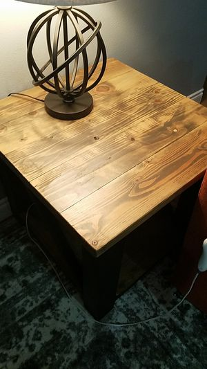 Set of 2 solid wood end tables for Sale in Wasilla, AK