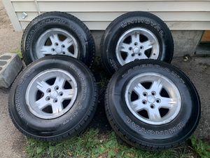 300$ tj wheels Jeep wrangler for Sale in Attleboro, MA
