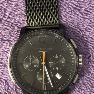 Men's Coach Watch Black color 42mm mesh bracelet (NO BOX) for Sale in Los Angeles, CA