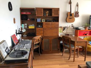 11 piece Ethan Allen set bookshelves/desks/chairs/storage/speakers SELLING AS SET OR INDIVIDUAL PIECES for Sale in San Francisco, CA