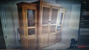 Solid oak entertainment center for Sale in Summerville, SC