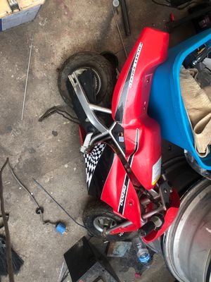 Pocket rocket electric pocket bike I'm asking 60 obo comes with every hair needs charger and axel for Sale in La Puente, CA
