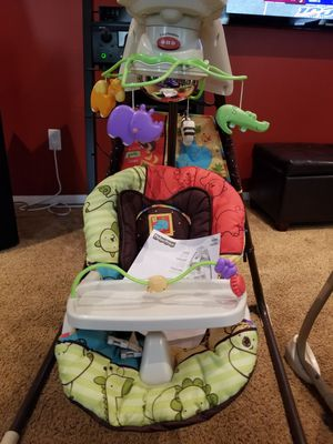 Fisher Price Cradle and swing Luv U Zoo Stationary Baby Swing for Sale in College Park, MD