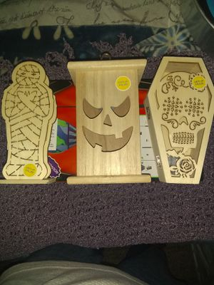 Light up wooden boxes with painting set for Sale in Fall River, MA