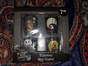 Nightmare before christmas shot glasses for Sale in Riverside, CA