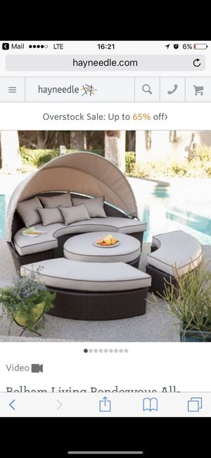 Gorgeous detachable outdoor day bed - original price $1100 for Sale in Bellevue, WA