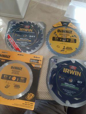 Irwin/dewalt circular saw blades for Sale in Fresno, CA