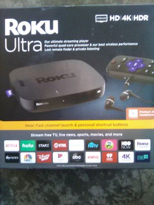 Roku Ultra with JBL headphones (brand new) for Sale in Whittier, CA