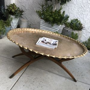 41 inch Brass Spider Leg Mid Century Folding table for Sale in Fullerton, CA