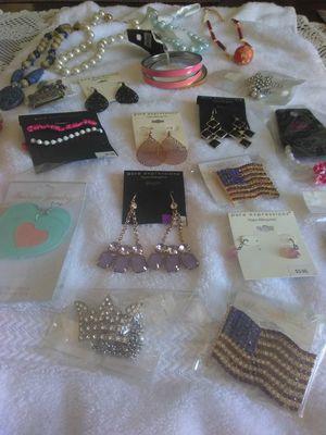 Fashion jewelry, earrings, bracelet, necklace for Sale in Los Angeles, CA