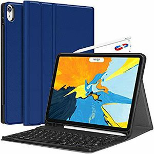 iPad Pro 11 Keyboard Case 2018 - Detachable Wireless Keyboard [Support Apple Pencil Charging] - PU Leather Folio Stand Cover for Sale in Hawthorne, CA