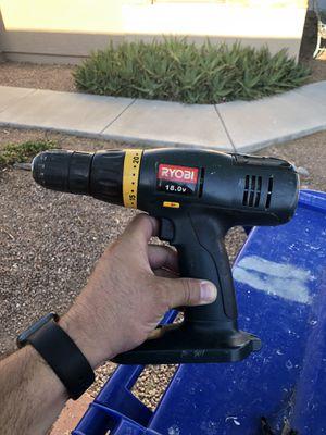 Ryobi 18volt drill for Sale in Goodyear, AZ