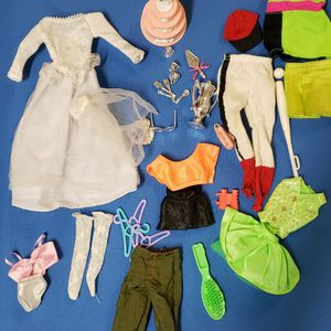 Barbie And Ken Clothing With Accessories for Sale in Palm Bay, FL