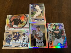 2020 Bowman baseball card lot rookies chrome refractor for Sale in Hanover, MD