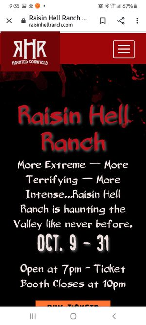 Raisin hell ranch tickets for Sale in Fresno, CA
