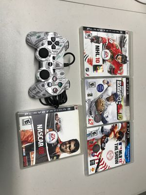 PlayStation 3 games and wired controller for Sale in Miami, FL