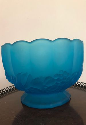 Antique blue glass fruit bowl for Sale in Villa Rica, GA