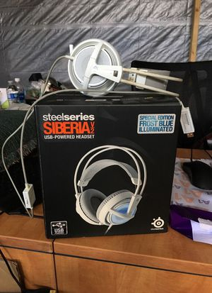 Steelseries Siberia v2 USB special edition frost blue illuminated for Sale in San Jose, CA