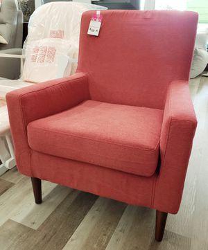 NEW Red Upholstered Accent Arm Chair: njft livingrm bedrm for Sale in Burlington, NJ