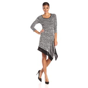 MSK Quarter-Sleeve Asymmetrical Heather Gray Sweater Dress for Sale in Miami Shores, FL