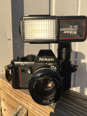 Nikon F3 with Lens and Flash for Sale in Siler City, NC