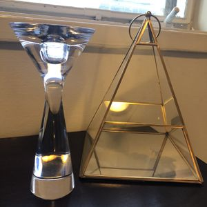 Nambre Crystal Candlestick Holder or Decor for Sale in Beverly Hills, CA