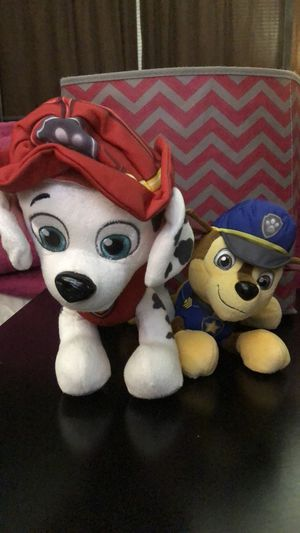 Paw Patrol stuffed animals Marshall & Chase for Sale in Austin, TX