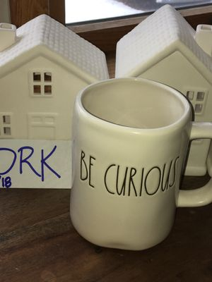 "Raw Dunn ""Be Curious"" mug for Sale in Traverse City, MI"