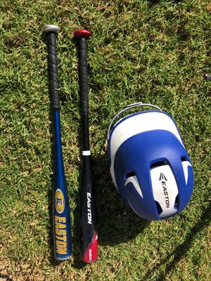 2 Easton Baseball Bats & 1 Easton Helmet for Sale in Carlsbad, CA