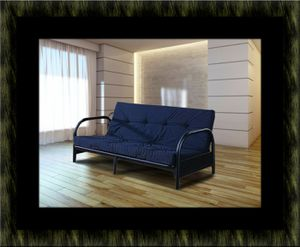 Black futon frame with mattress for Sale in Rockville, MD