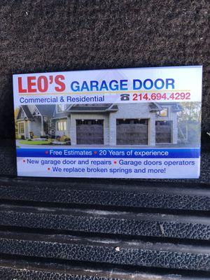 Leo's garage doors for Sale in Richardson, TX