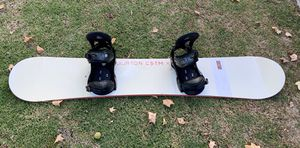 Burton Custom X snowboard with Burton bindings and board cover for Sale in Costa Mesa, CA