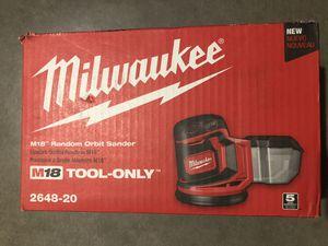 Milwaukee M18 18-Volt Lithium-Ion Cordless 5 in. Random Orbit Sander (Tool-Only) for Sale in Phoenix, AZ