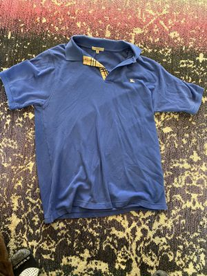 Burberry Mens Polo Blue Shirt for Sale in Ridgeland, MS