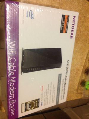 New in box netgear dual band gigabit wifi cable modem router DOCSIS 3.0 built in. Fastest download protocol for Sale in Mesa, AZ