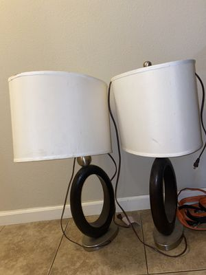 Two lamps w/ shades for Sale in San Diego, CA
