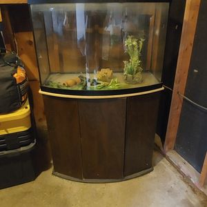 42g Bow Front Tank And Stand for Sale in Oklahoma City, OK