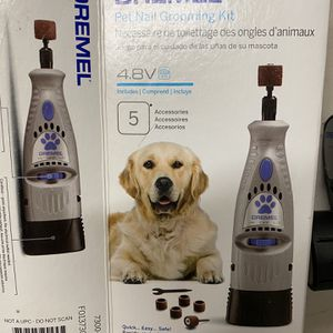 Dremel Pet Nail Grooming Kit Trimmer, Excellent Like New, Sharp With Sand Discs for Sale in Woodway, WA