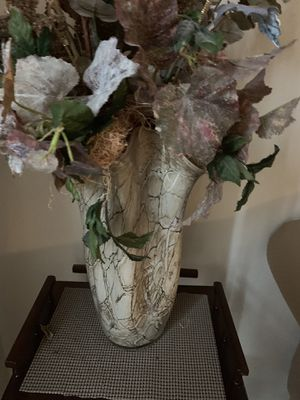 Flower arrangements with vase for Sale in Chesapeake, VA
