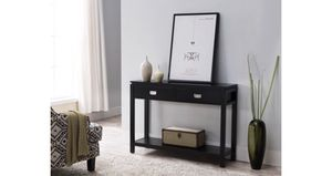 Wood 2 Drawer Contemporary Entryway Console Table With Storage Shelf A4-98 for Sale in St. Louis, MO