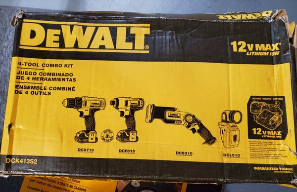 Drill, Impact, Sawzall, Flashlight 4 tool Dewalt Set.